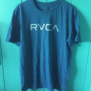 Men's aqua blue RVCA t-shirt